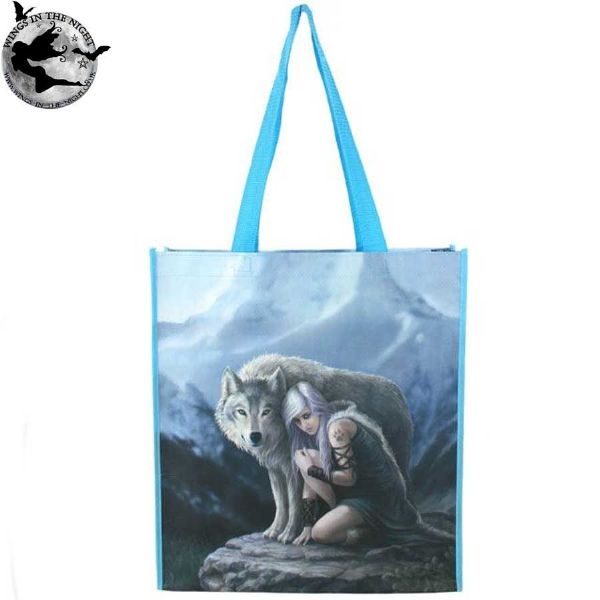ANNE STOKES Protector Wolf Shopping Bag